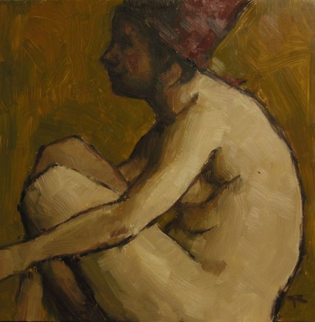 Sitting-Nude