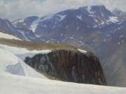 """Finalist in Landscape Category-- """"Near to High Places,"""" 24x18, pastel"""