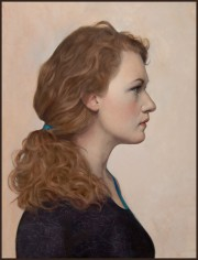 "Finalist in Figurative Category - ""Profile of Hedwig"", 20x16, oil on panel"