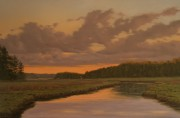 "Finalist in Landscape Category-- ""Nature's Glow After the Storm,"" 36x24, oil on canvas"
