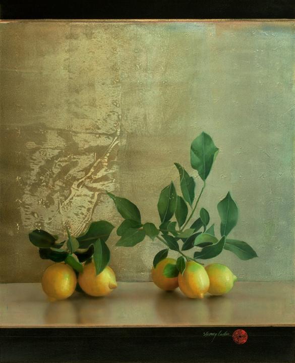 """Still Life with Lemons,"" 24x30, acrylic on board"