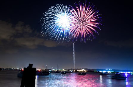 birthday fireworks on Alexandria's waterfront