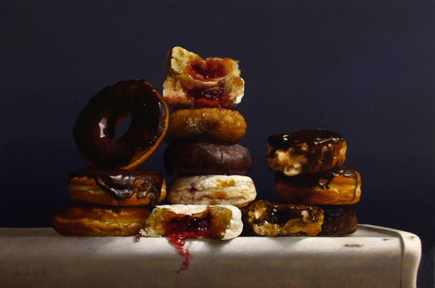 """""""Assorted Donuts,"""" 12x18"""