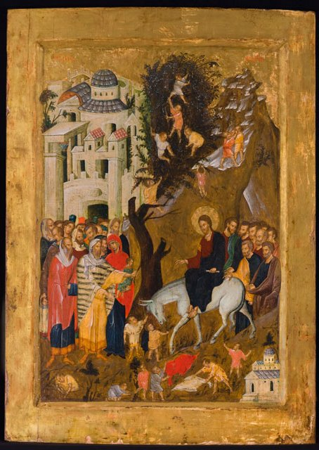 Many old religious panel paintings and icons were painted on a surface of gesso to preserve the paint and delicate gold leaf