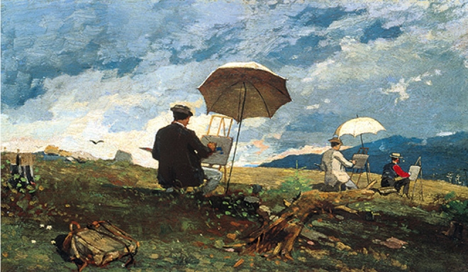 """Artists Sketching in the White Mountains"" by Winslow Homer"