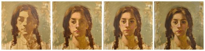 Teresa's work develops over 25 minute intervals.