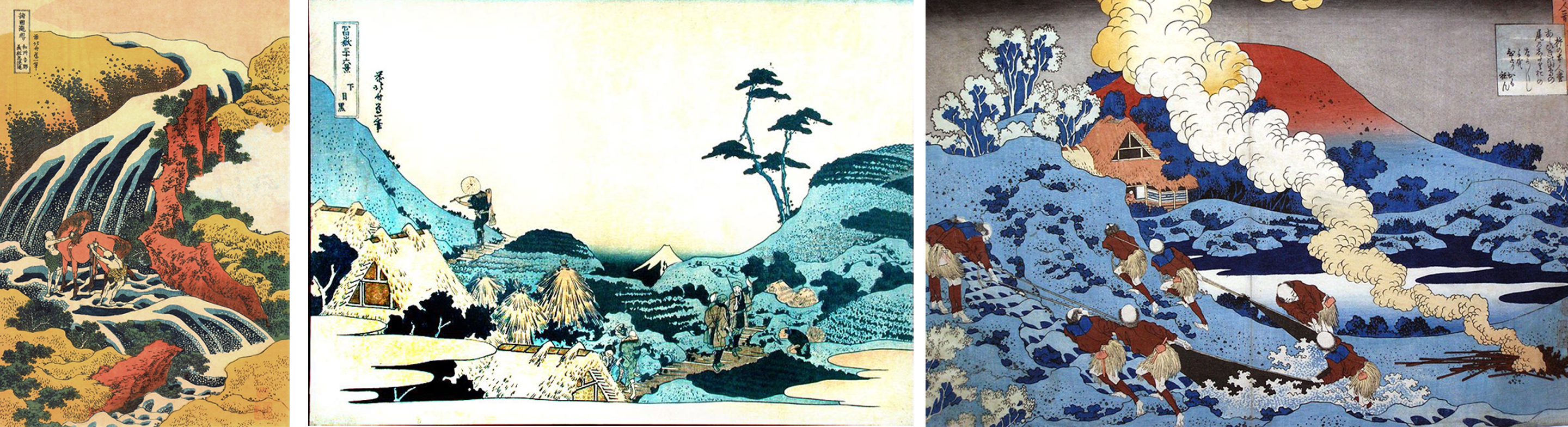 Hokusai collage