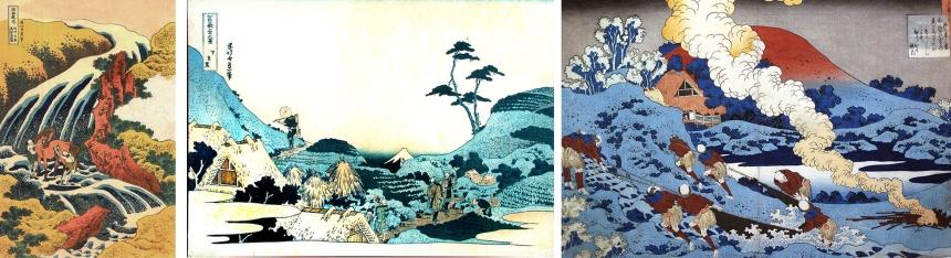 Hokusai collage