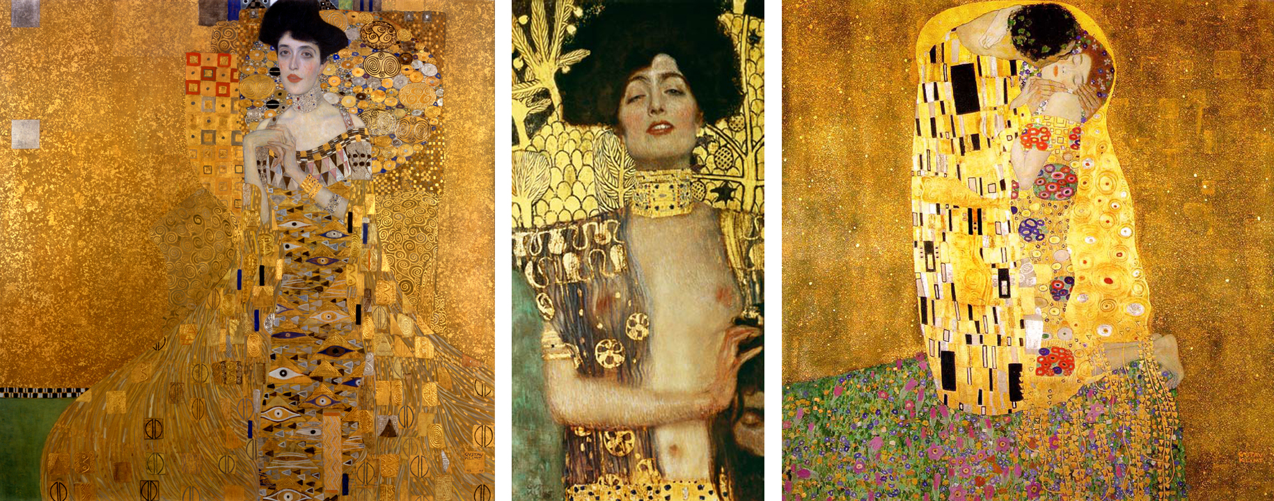 "left to right, Gustav Klimt, ""Adele Bloch-Bauer I"", ""Judith and ...: principlearttalk.com/tag/gustav-klimt"