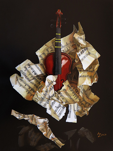 Alex Zonis - Adagio for three strings - 12x9 - 72