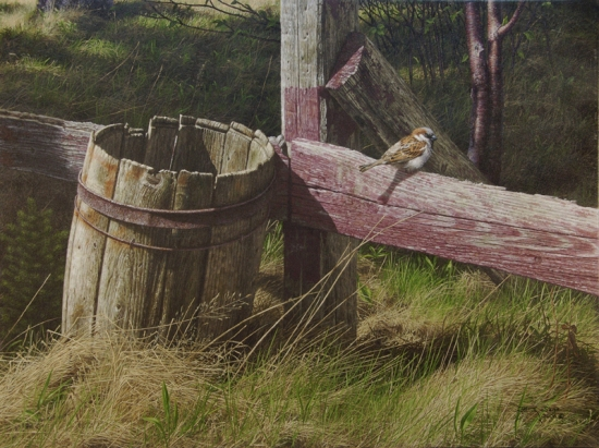 Brian LaSaga BARREL AND SPARROW Acrylic 18x24 72