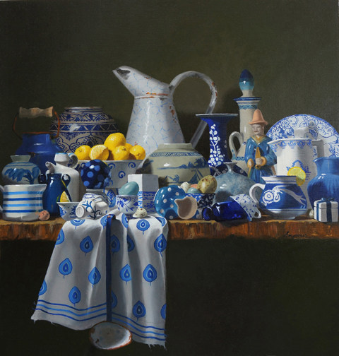 Claudia Seymour - Out of the Blue - 21__x20__- oil72