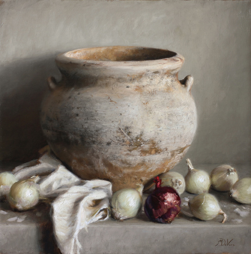 Michael DeVore - The Weathered Vase - 24 x 24 - Oil on Linen72