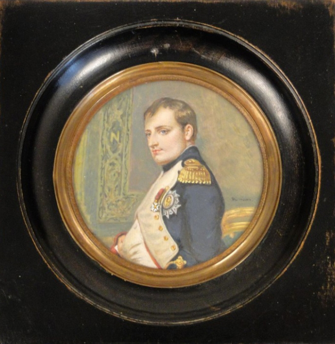 napoleon-portrait-miniature-painting-first-dumont-nineteenth