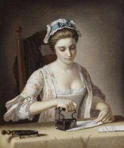 A Laundry Maid Ironing c.1765-82 Henry Robert Morland 1716-1797 Purchased 1894 http://www.tate.org.uk/art/work/N01403