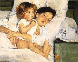 Breakfast in Bed Mary Cassatt