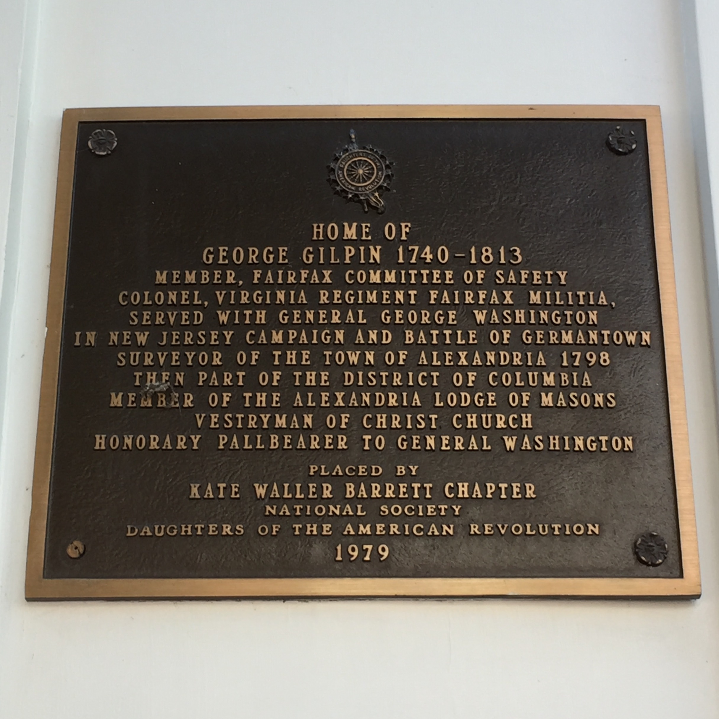 Gilpin House Plaque