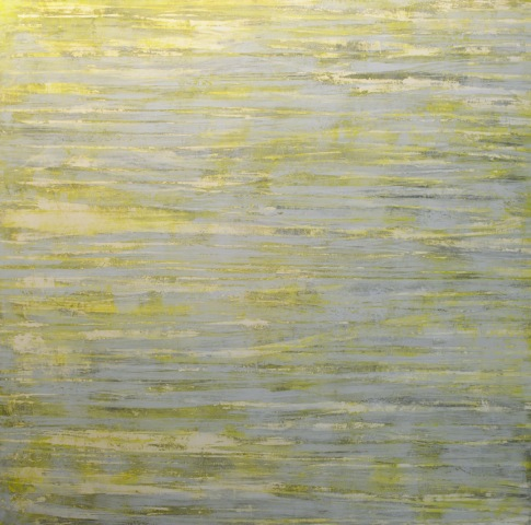 """Glimmering Light,"" 48x48, oil on wax on panel"