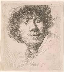 Self portrait of Rembrandt van Rijn
