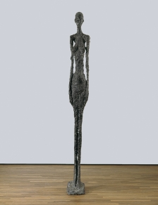 "figure. 18 ""Tall Woman II"" by Alberto Giacometti; 1960"