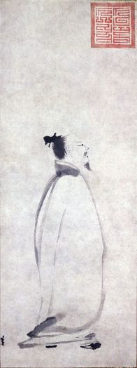 "figure. 6""Li Po Chanting a Poem"" by Liang Kai"