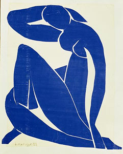"figure. 12 ""Blue Nude II"" by Henri Matisse; 1952; Private Collection"