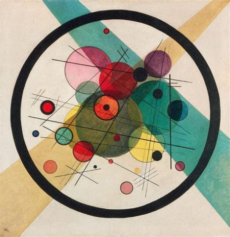 "figure. 11 ""Circles in a Circle"" by William Kandinsky; 1923; Philadelphia Museum of Art"
