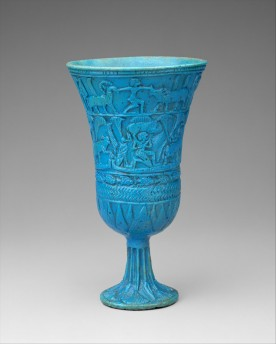 Lotiform Chalcie, Egypt, ca. 945-664 BC; Faience