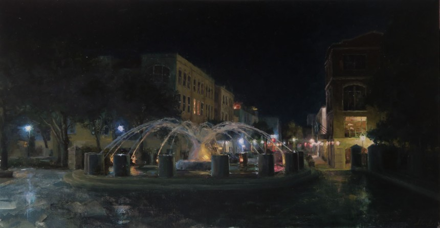 Night at the Fountain 28x53_websize