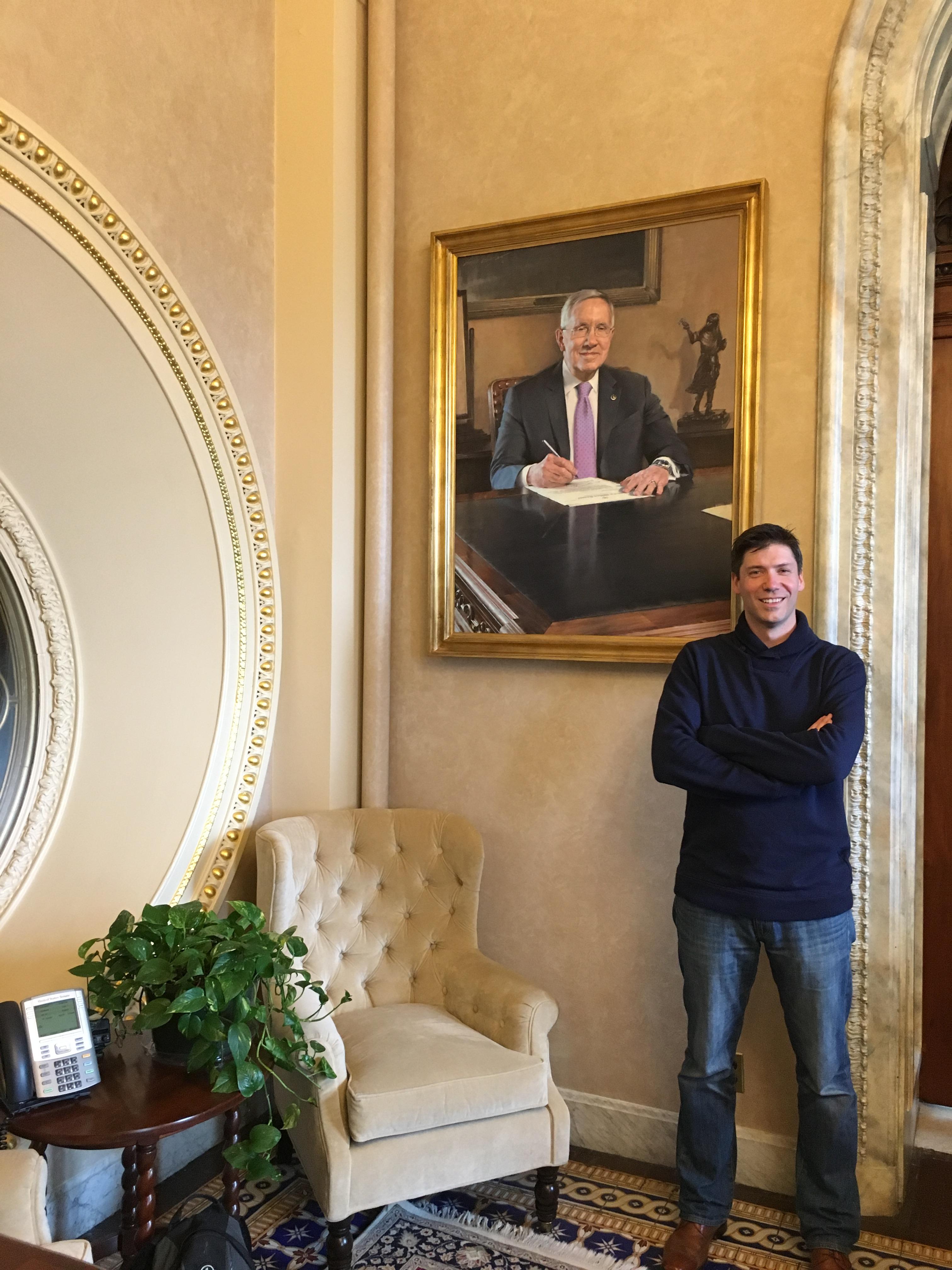 Me Reid ptg Schumer Office